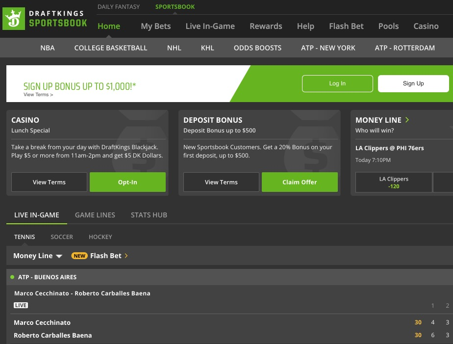 draftkings sportsbook best site