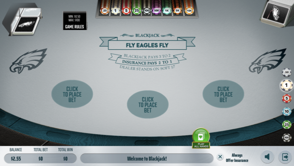 unibet eagles blackjack