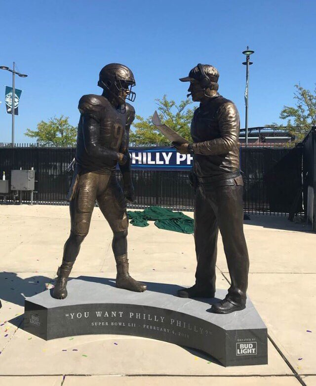 Nick Foles 'Philly Special' Statue Relocated at the Linc
